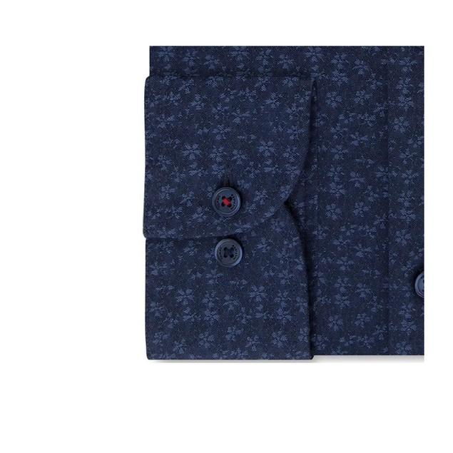 Tommy Hilfiger Thflex Floral-print Supima Cotton Dress Shirt 17.5x34-35