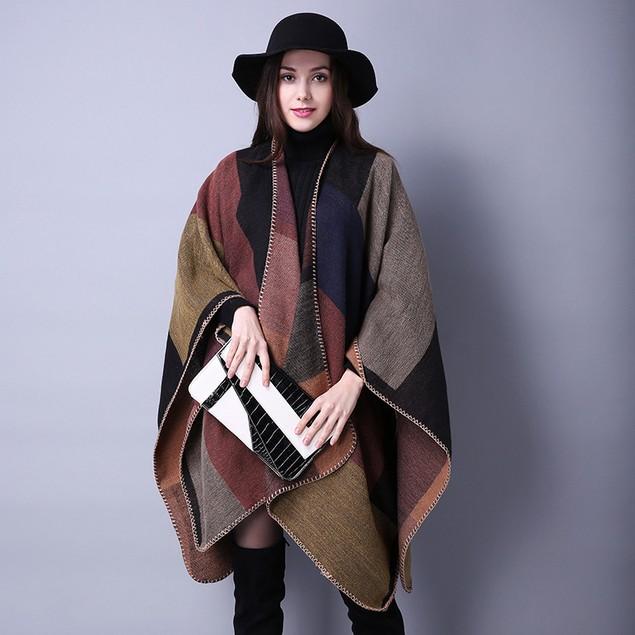 Wild Ladies Travel Shawl Ethnic Style Thickened Cloak