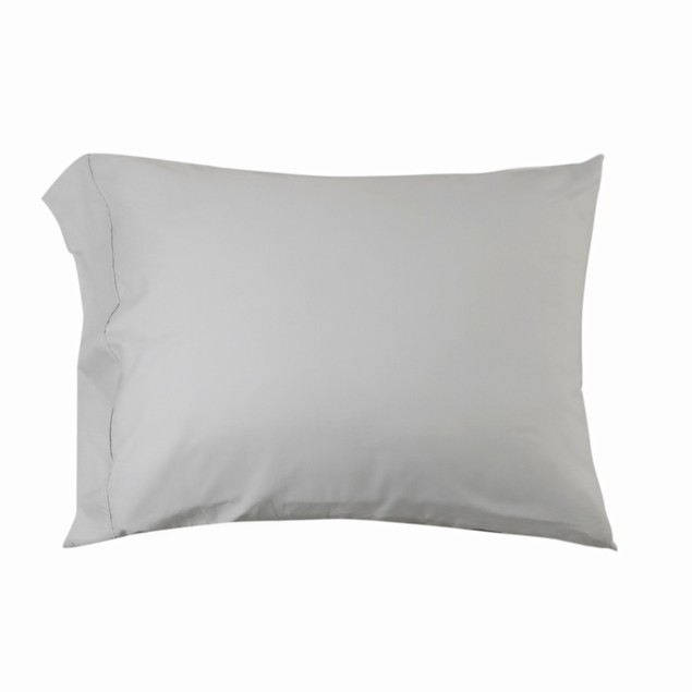 Pittsburg Solid 300-Thread Count Cotton Percale Pillowcase Set