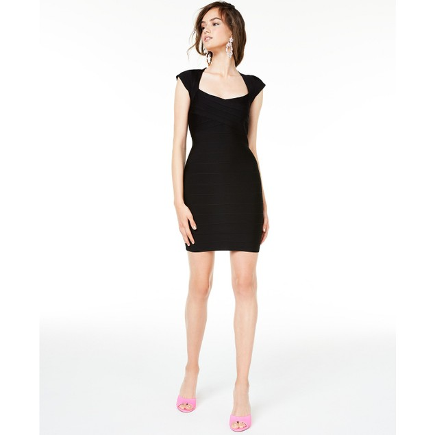 Jump Sweetheart Women's Bandage Bodycon Dress Black Size Small
