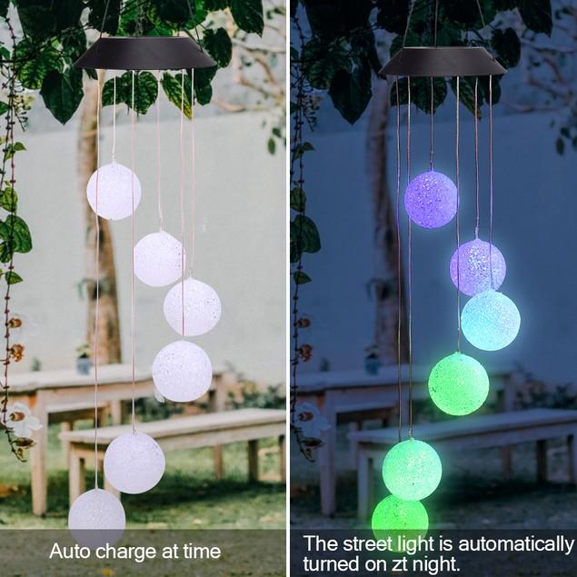 3 Style Solar Intelligent Light Control Wind Chime Corridor Decoration