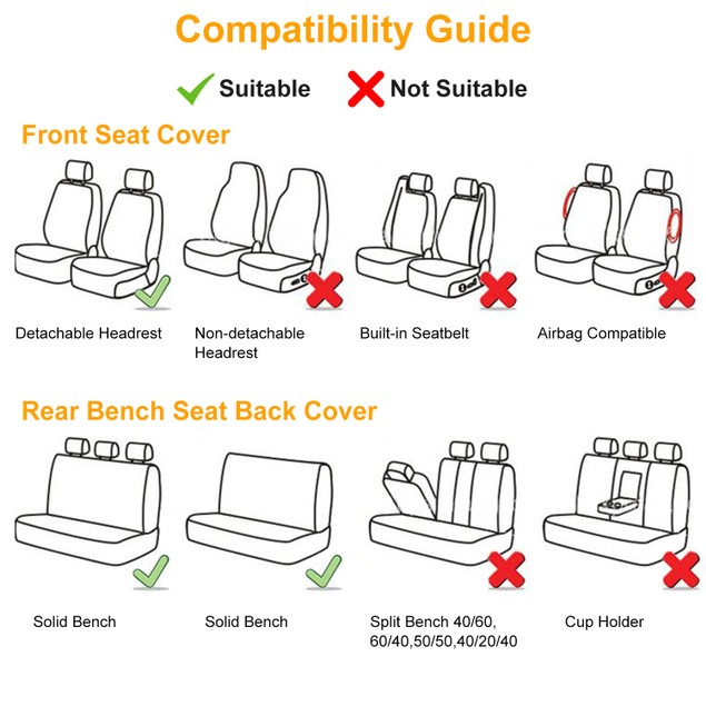 9Pcs Car Seat Cover Set PU Leather Auto Seat Cover Protector