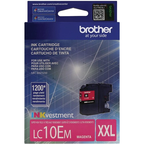 Brothers Brother Printer LC10EM Super High Yield Magenta Ink Cartridge