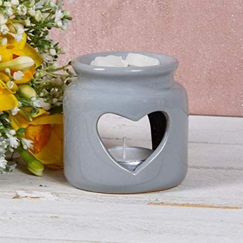 Ceramic Grey Wax Oil Warmer Heart By Lesser and Pavey
