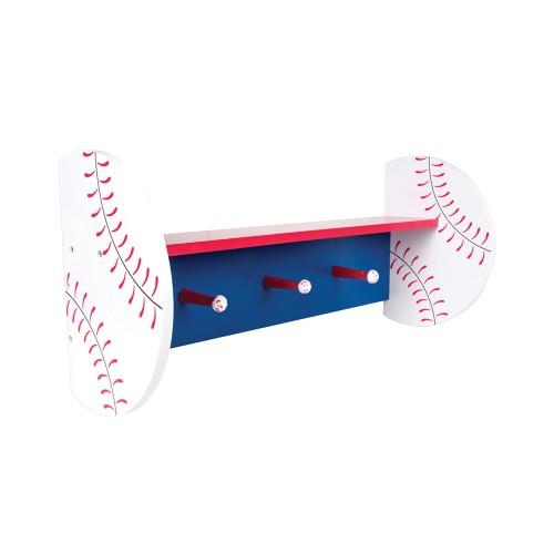 Trend Lab Baseball Shelf With Pegs