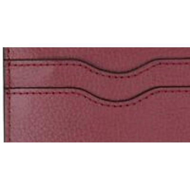Bespoke Men's Pebble Leather Card Case Red Size Regular