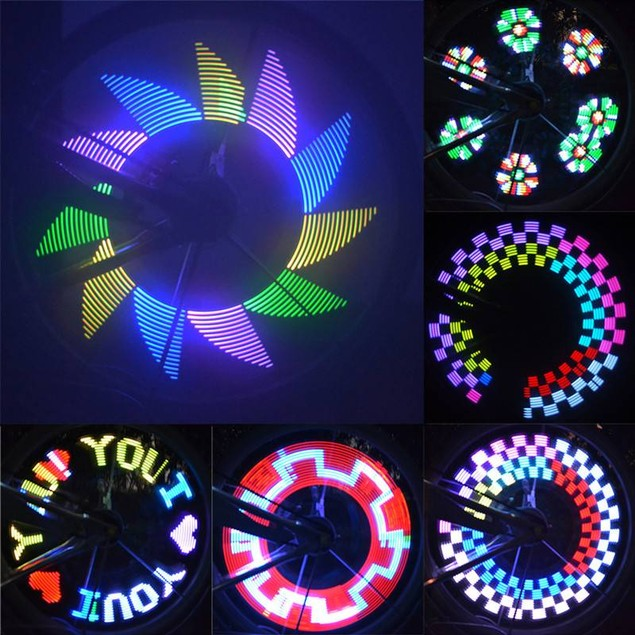 14 LED Motorcycle Cycling Bicycle Bike Wheel Signal Tire Spoke Light