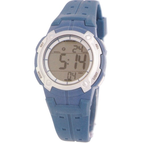 Dunlop Digital Watches for Girls Bullion Plastic Case Rubber Quartz Watches