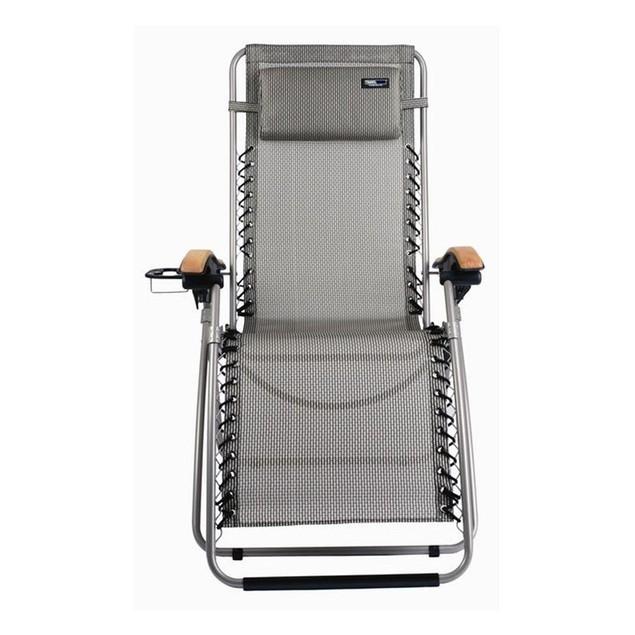 Travel Chair Lounge Lizard Model - Salt and Pepper