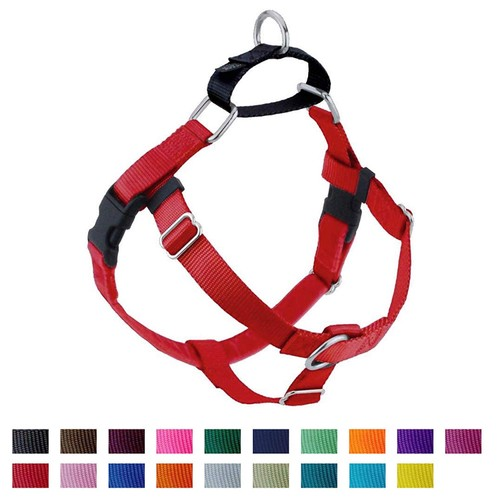 """2 Hounds Design Freedom No-Pull Dog Harness - Made in USA (1"""" Medium, Red)"""