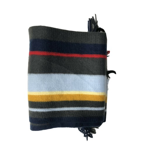 Alfani Men's Striped Scarf Blue Size Regular