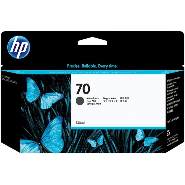 HP 70 Matte Black 130-ml Genuine Ink Cartridge (C9448A) for DesignJet Z5400, Z5200, Z3200, Z3100 & Z2100 Large Format Printers