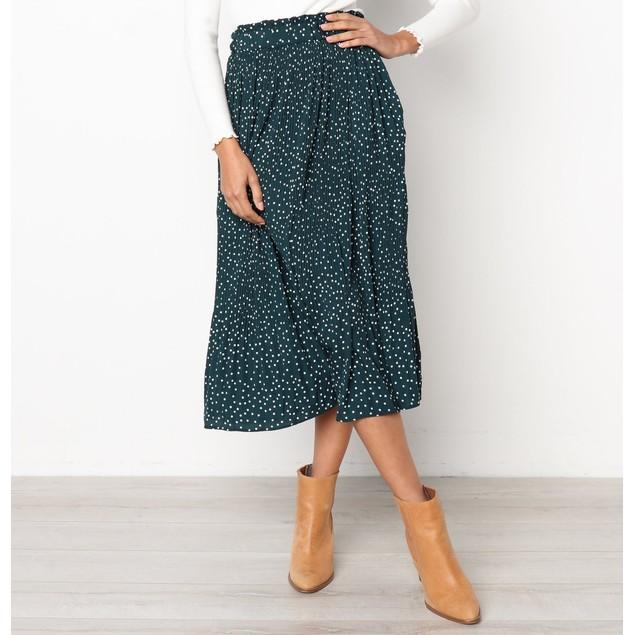 Calf Length Flare Skirt