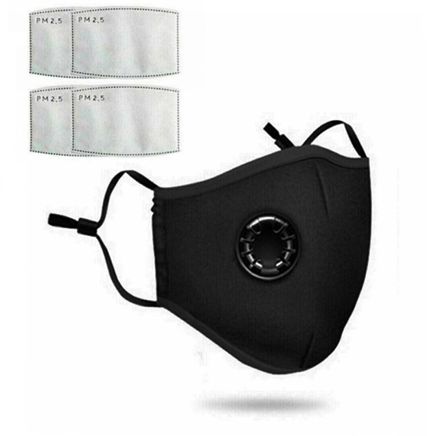 Reusable Cotton Mask Face Cover with 2 Filters