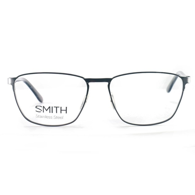 Smith Men's Eyeglasses Ralston V81 Dark Ruthenium 56 16 140 Stainless Steel