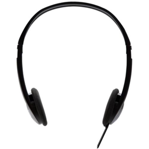 V7 HA300 Lightweight Stereo Headphones Wired (Black)