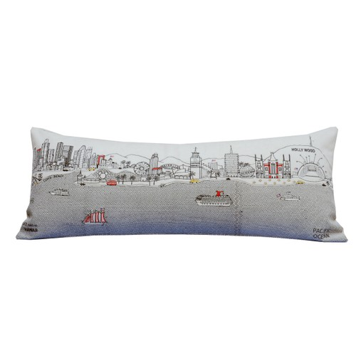 Spura Home Los Angeles Pictorial Skyline Contemporary Day/Night Cushion