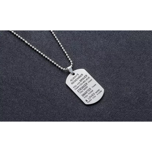 Always Remember You Are Braver Letter Necklace
