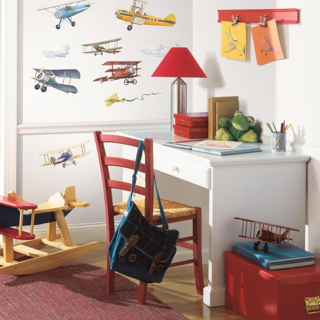 Roommates Baby Room Wall Decor Vintage Planes Peel And Stick Wall Decals