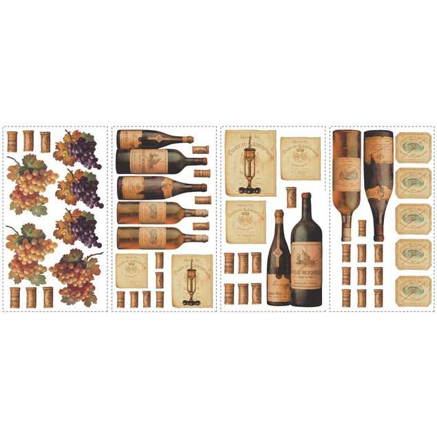 Roommates Baby Room Wall Decor Wine Tasting Peel And Stick Wall Decals
