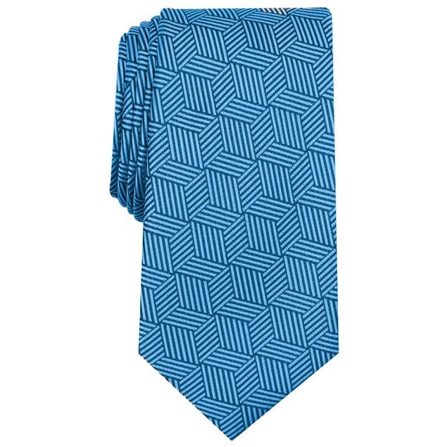 Alfani Men's Geometric Tie Navy Size Regular