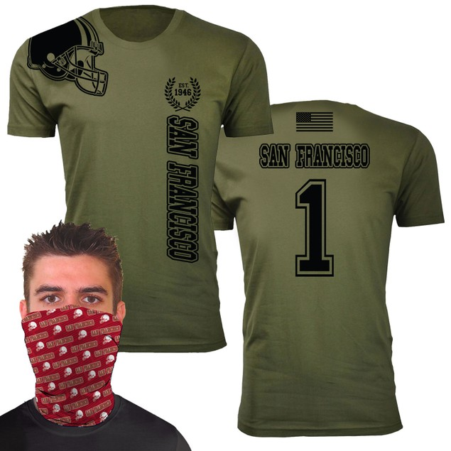 Men's Home of The Brave Football T-Shirts with Gaiter