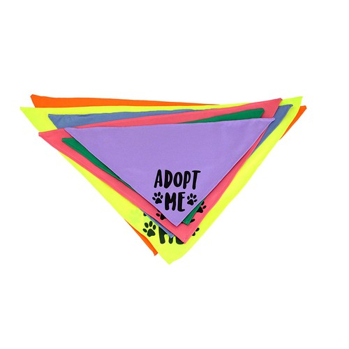 Midlee Adopt Me Dog Bandana- Pack of 4 Assorted Colors (Assorted)