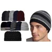 6 Pack: Men's Essential Basic Beanie