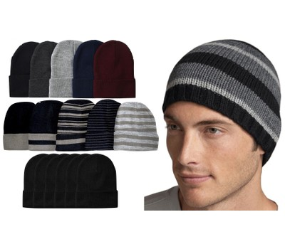 6 Pack: Men's Essential Basic Beanie Was: $40 Now: $18.99.