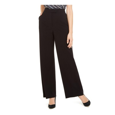 Anne Klein Womens Black Zippered Pants Black Size 6
