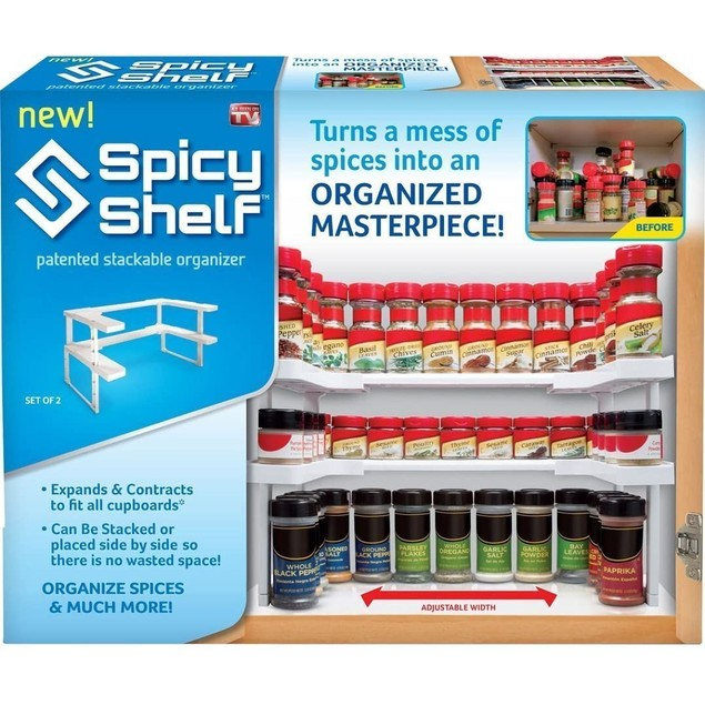 Spicy Shelf Spice Rack and Stackable Organizer