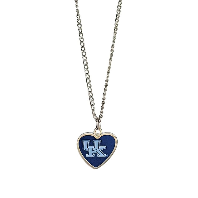 Cleanlapsports Kentucky Wildcats Heart Shaped Pendant Necklace