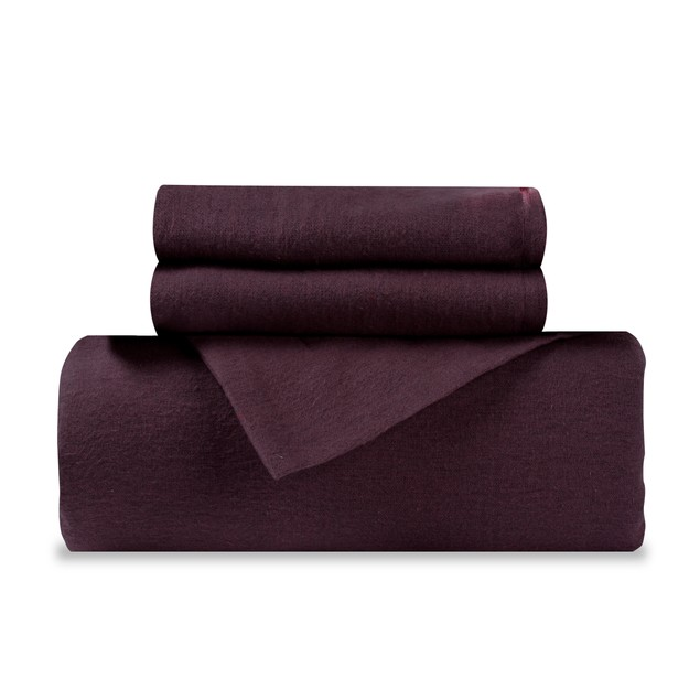 Cotton Flannel Solid Duvet Cover and Sham Set by Blue Nile Mills