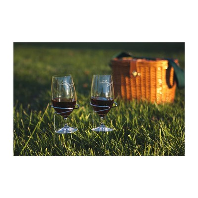 Picnic Plus Handy Holder Wine Glasses (2) Silver