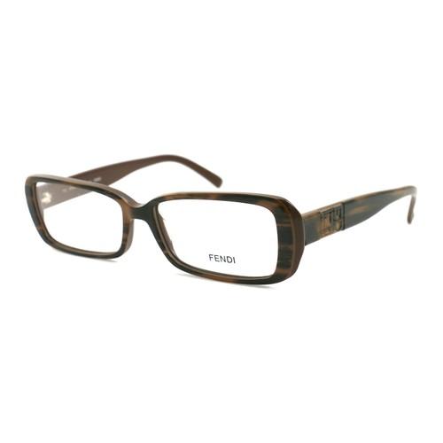 Fendi Women's Eyeglasses FF768 205 Brown Stripped 53 15 140 Full Rim Rectangle