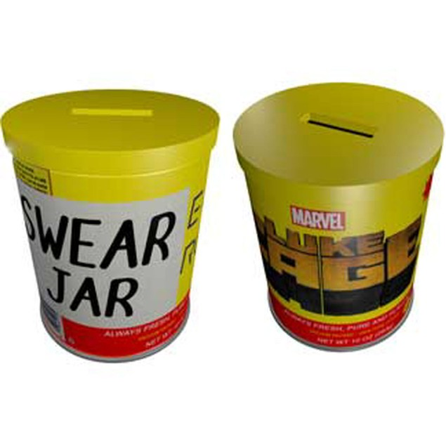 Luke Cage Swear Jar Ceramic Bank Marvel Comics Defenders Netflix Power Man