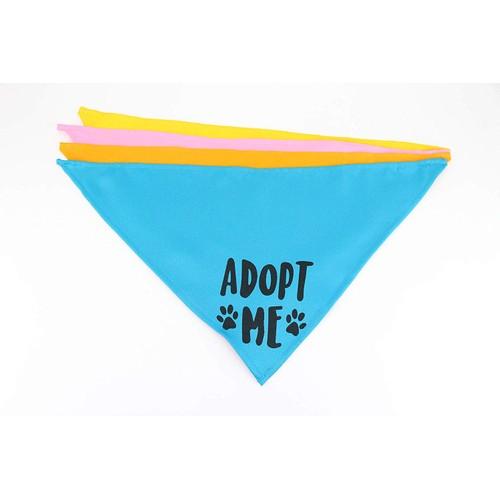 Midlee Adopt Me Dog Bandana- Pack of 4 Assorted Colors (Medium)