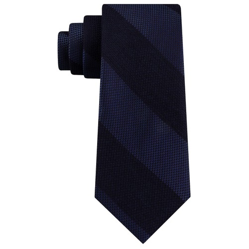 Tommy Hilfiger Men's Andy Stripe Tie Navy Size Regular
