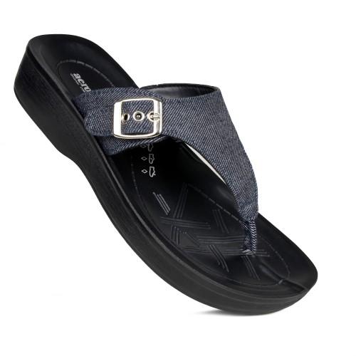 AEROSOFT Denimre Summer Trendy Arch Support Comfortable Thong Sandals for Women