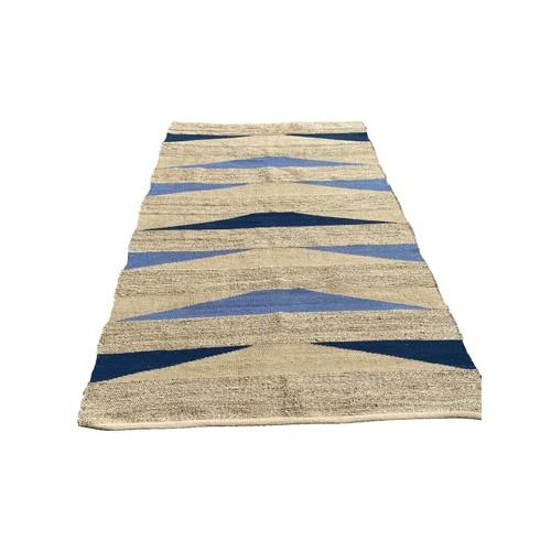 Spura Home Reeds Jute Rug, Jute Area Rug Blue Jute Rug and Earth Color Rug