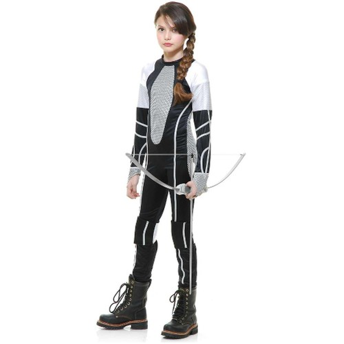 Katniss Everdeen Costume Girls Jumpsuit 2 Catching Fire Movie Child Youth