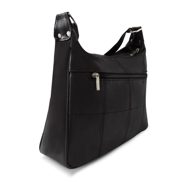 Sleek Multi Pockets Leather Shoulder Handbag