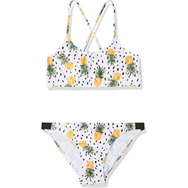 Seafolly Girls' Big Tankini Swimsuit, Multi, 14 AUS