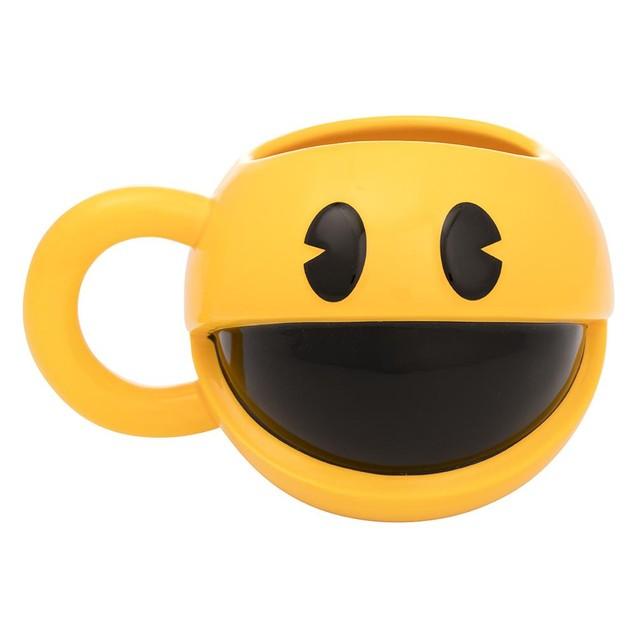 PAC-MAN 16 oz. Sculpted Ceramic Mug Mrs. Pacman Video Game Arcade Gift