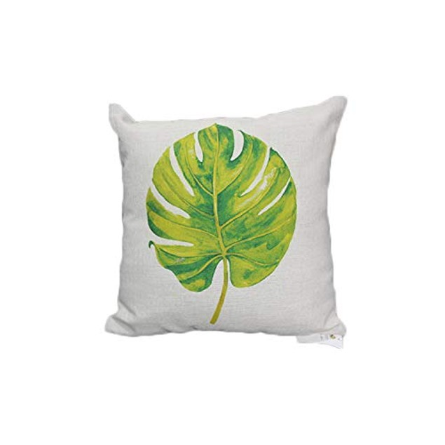 Tropical Flower Leaves Hypoallergenic Organic Cotton Linen Cushion Covers