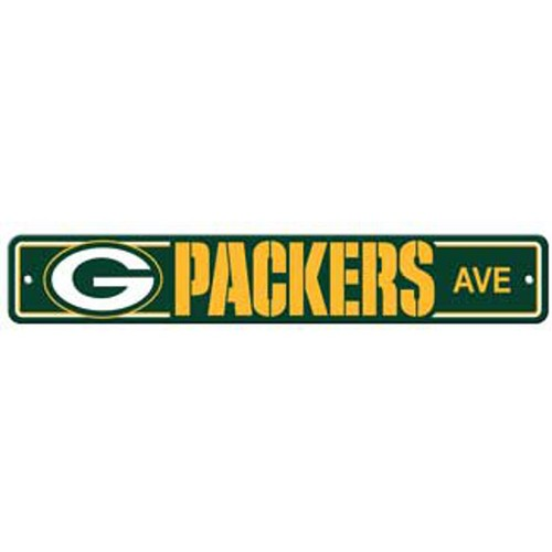 "Green Bay Packers Ave Street Sign 4""x24"""