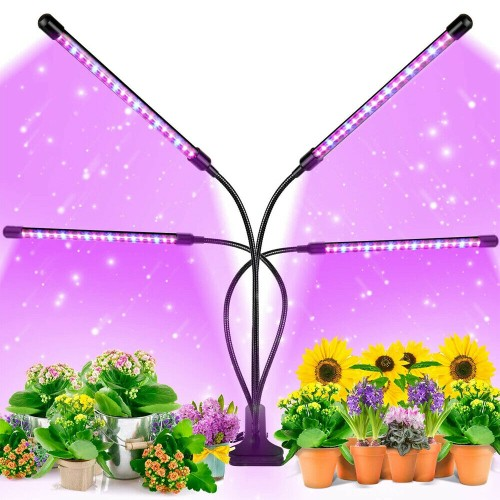 LED Grow Light with Adjustable Gooseneck 3 Timing Function for Indoor Plants