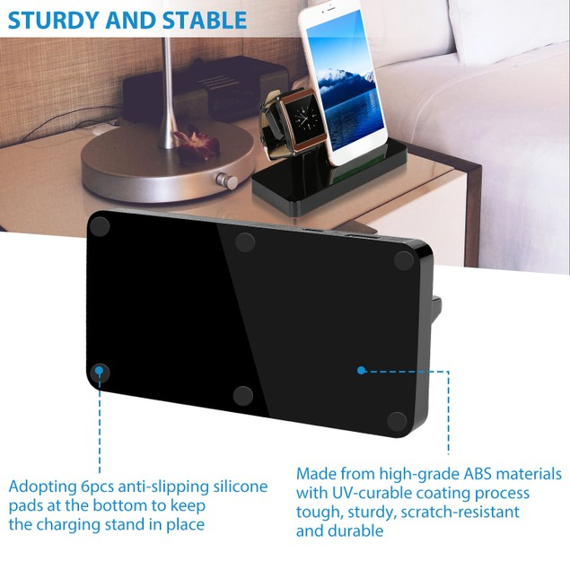 Charging Stand Dock Station Charger Holder For Apple Watch Series iPhone 11/X/8/8Plus/7