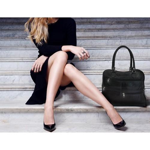 Organized Leather Work Bag