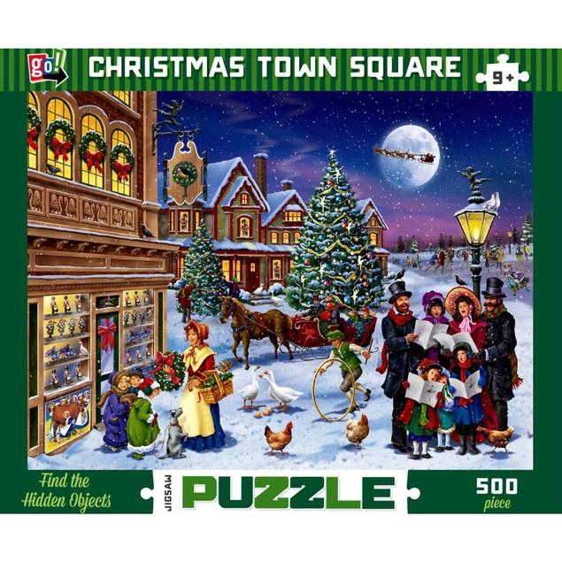 Christmas Town Square 500 Piece Puzzle, Prestige Vision Co., Ltd. by Go! Ga
